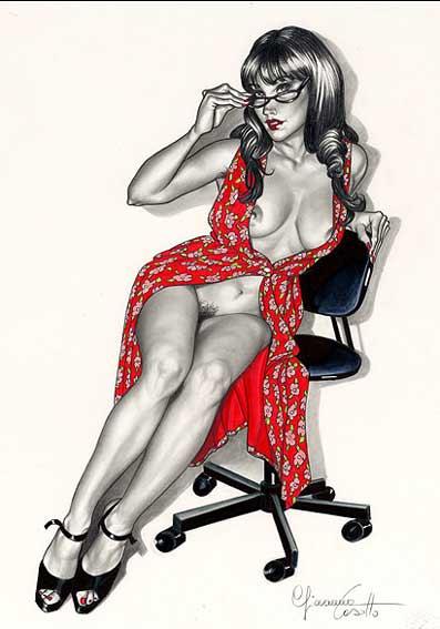 как нарисовать праститутку с клиентом